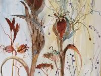 Iris Seed Heads with Grasses