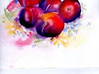 Plums on a pretty plate